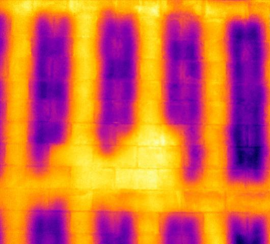 Blockwall close up Infrared Imaging Services LLC 2 - Block Wall Scan Infrared