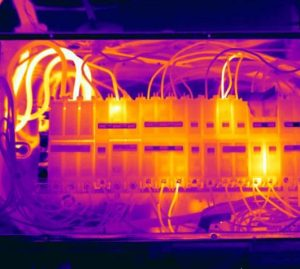Hot panel1 2 300x269 - Electrical infrared inspection finds overloaded circuits - Infrared Imaging Services LLC