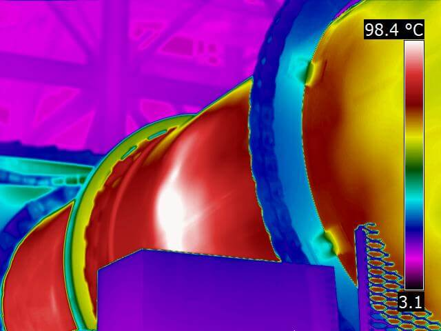 Infrared inspection of rotating kiln 1 1 - Infrared Mechanical Inspection