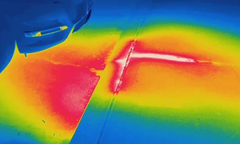 Infrared locates leak in buried steam pipe - Radiant and Steam