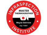 Master Thermographer badge logo - Infrared Windows