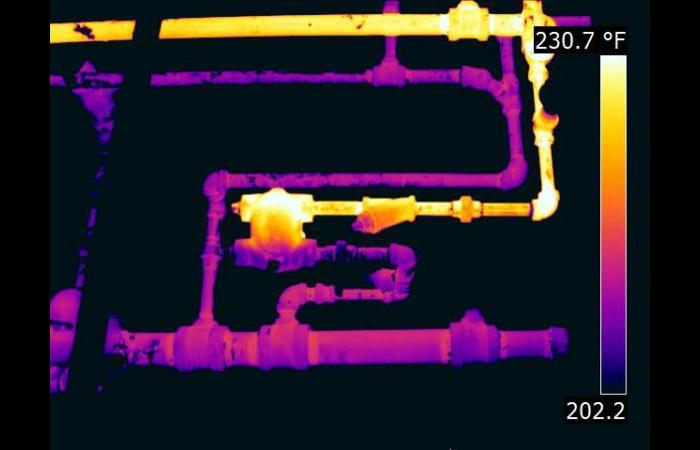 Steam trap thermal image 0 - Gallery