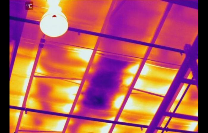 Wet insulation metal roof 0 - Infrared Roof Inspection